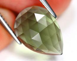 Moldavite 2.91Ct Pixalated Cut Natural Czech Rep Green Moldavite SD687