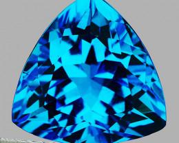 9.00 mm Trillion  2.95ct Swiss Blue Topaz [VVS]