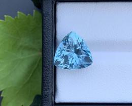Ring Size AAA Grade 6.30 ct Santa Maria Color Aquamarine