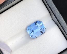 Perfect Blue Color 3.80 Carat Natural Aquamarine From Nigeria