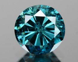 Diamond 0.80 Cts Sparkling Natural Fancy  Intense Blue  Diamond