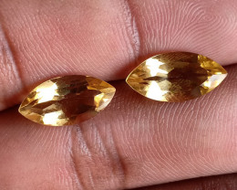7x14mm Citrine Pair Natural Marquise Faceted Gemstone VA1632