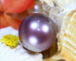 15.90MM 28.63Ct Natural Tahiti Aubergine Color Pearl DR636/A245