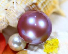 15.10MM 24.16Ct Natural Tahiti  Aubergine Color Pearl DR637/A245