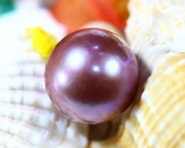 15.00MM 23.55Ct Natural Tahiti Aubergine Color Pearl DR638/A245