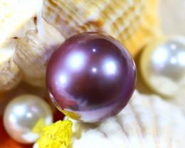 14.20MM 20.17Ct Natural Tahiti Aubergine Color Pearl DR639/A245
