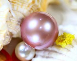 14.50MM 21.92Ct Natural Tahiti Cherry Color Pearl DR641/A245