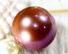 16.90MM 34.30Ct Natural Tahiti Aubergine Color Pearl ER611/A245
