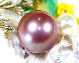 14.80MM 23.40Ct Natural Tahiti Aubergine Color Pearl ER613/A245