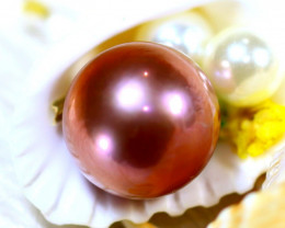 14.90MM 23.33Ct Natural Tahiti Aubergine Color Pearl ER614/A245