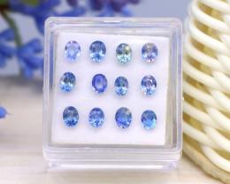 Sapphire 2.54Ct 12Pcs Oval Cut Natural Madagascar Blue Sapphire SE78