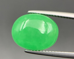 7.20 Cts Excellent Green Type-B Jadeite Cabochon. Jd-4230