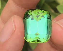 Tremendous Quality 35.00 Ct Bluish Green Color Tourmaline From Afghanistan