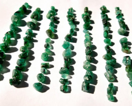 Rough Natural Emerald - Brazil -153.90 ct - 100 Units