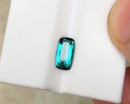 1.05 Ct Natural Blue Indicolite Transparent Tourmaline Ring Size Gemstone