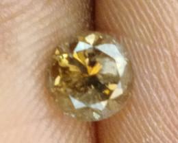 NATURAL-DARKBROWN  DIAMOND, 0.80CTWSIZE-1PCS