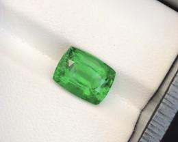 HGTL Certified~4.07Ct Forest Green Tsavorite Garnet Top Luster