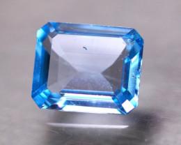 4.18Ct Natural Sky Blue Topaz Octagon Cut P451