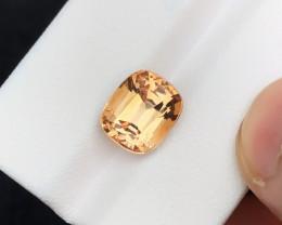 HGTL CERTIFIED 5.13 Ct Brown Transparent Topaz Gemstone