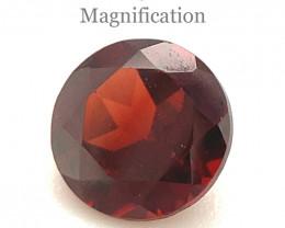 1.11ct Almandine/Almandite Round Red Rhodolite Garnet from Mozambique -$1 N