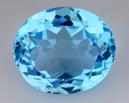 22.35 Ct Sky Blue Topaz Top Cut And Top Luster Gemstone TP9