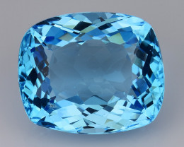 23.76 Ct Sky Blue Topaz Top Cut And Top Luster Gemstone TP13