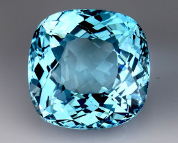 26.37 Ct Sky Blue Topaz Top Cut And Top Luster Gemstone TP16