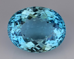 26.62 Ct Sky Blue Topaz Top Cut And Top Luster Gemstone TP17