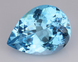 19.55 Ct Sky Blue Topaz Top Cut And Top Luster Gemstone TP18