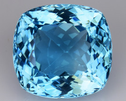 21.10 Ct Sky Blue Topaz Top Cut And Top Luster Gemstone TP21