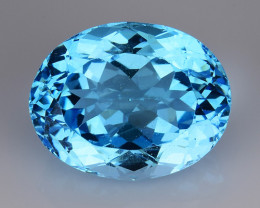 19.88 Ct Sky Blue Topaz Top Cut And Top Luster Gemstone TP22
