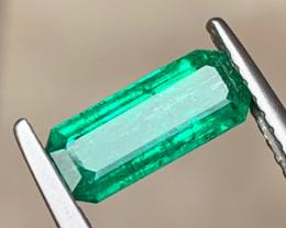 Vivid 1.22 Carats Natural Panjshir Emerald