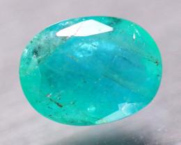 2.17Ct Natural Zambia Green Emerald Oval Cut Lot V8285