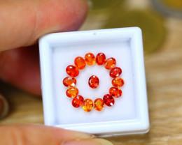 3.00ct Natural Songea Orange Sapphire Oval Cut Lot V8295