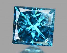 Blue Princess Diamond 0.19 Cts Natural Fancy  Intense Blue  Diamond
