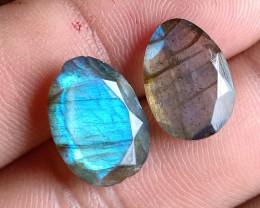 14x10mm Labradorite 100% Natural + Untreated Faceted Gemstone VA1639