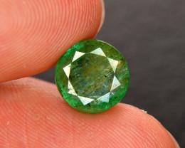 2.80  Ct Brilliant Color Natural Zambian Emerald  Gemstone