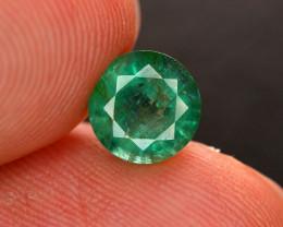 1.45Ct Brilliant Color Natural Zambian Emerald Gemstone