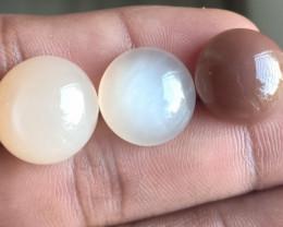 3 Pcs Moonstone Natural Gemstone Untreated Cabochon VA1647