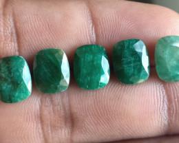5Pcs Emerald Wholesale Lot Natural Faceted Gemstone VA1656