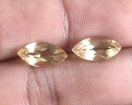 6x12mm Citrine Pair Natural Marquise Faceted Gemstone VA1668