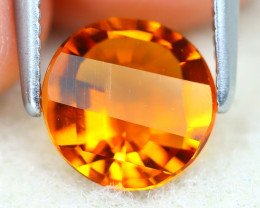 Madeira 1.07Ct VVS Pixalated Cut Natural Orange Color Citrine SE472