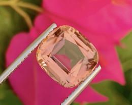 6.45 Carat Natural Peach Pink Tourmaline