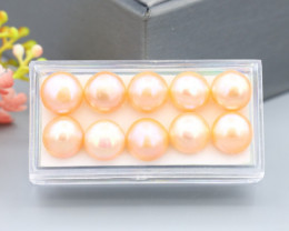 37.22Ct 9mm Natural Freshwater Cultured Pink Pearl Lot SC605