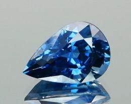 No Heat Pear Cut Blue Sapphire 3.54Ct