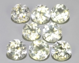 4.30 CTS TOP DAZZLING NATURAL ULTRA 4.90 MM ROUND  WHITE TOPAZ EXCELLENT!!