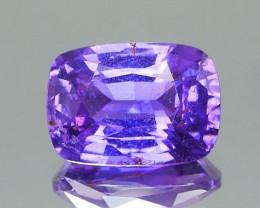 Vivid  Purple Sapphire Cushion 2.77Ct.