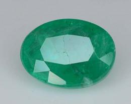 1.05 ct Oval Cut Natural Zambian Emerald