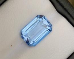 4.05Ct Santa Maria Color Emerald Cut Natural Aquamarine