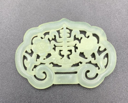 69.75 Cts Incredible Hand Carving Jade.